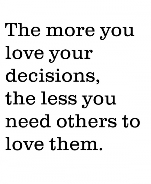 Love Your Decisions