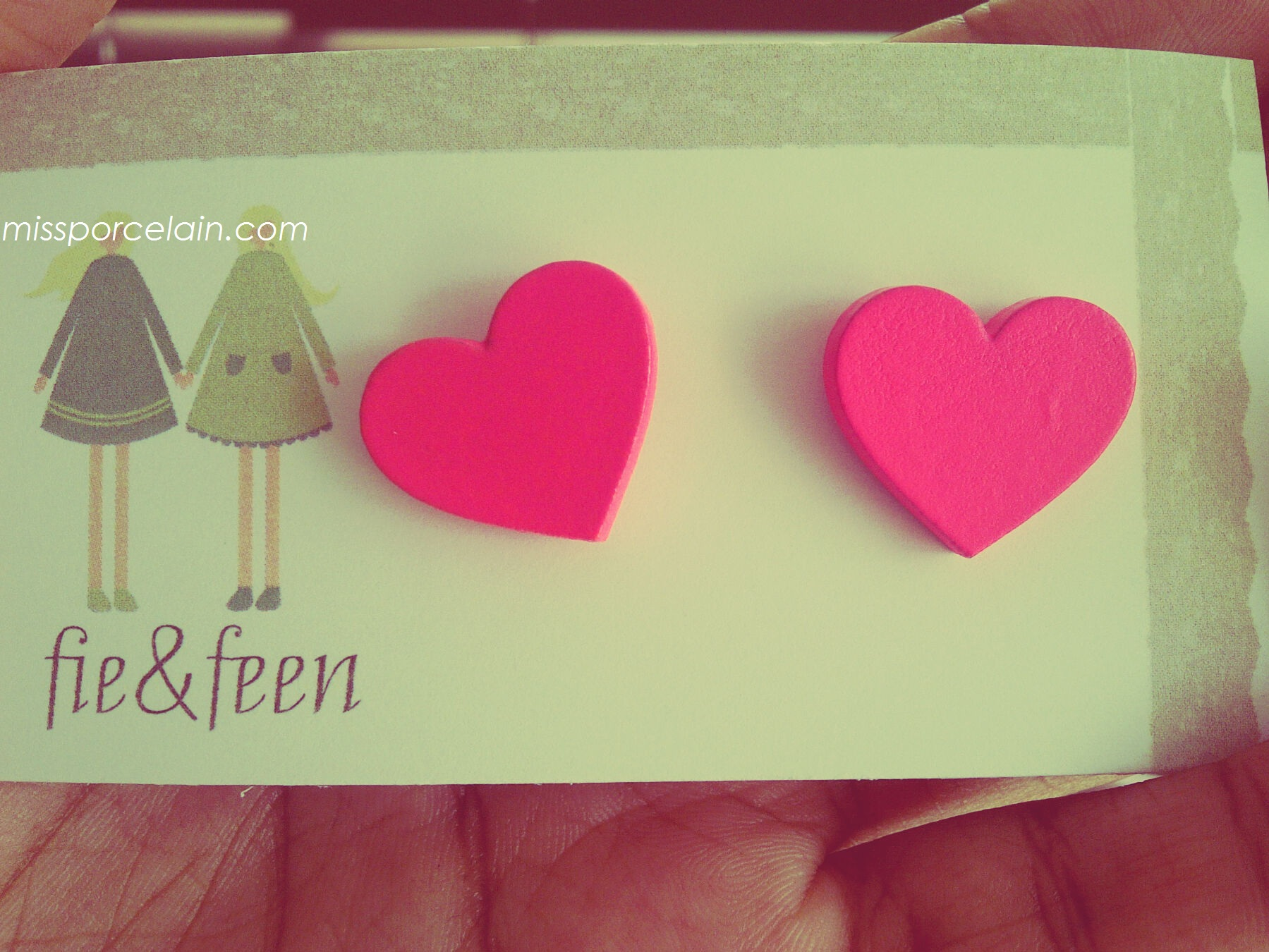 I wore these earrings. Marcee bought them for me. Pink is becoming one of my favourite colours.